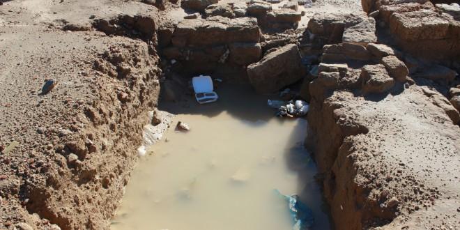 أضرار المنخفض الجوي على المناطق الأثرية