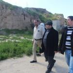 وفد من وزارة السياحة الآثار يتفقد المواقع الأثرية في قطاع غزة